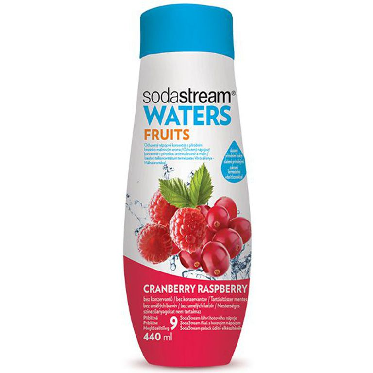 SodaStream sirup Waters Plus Malina-Brusinka 440ml