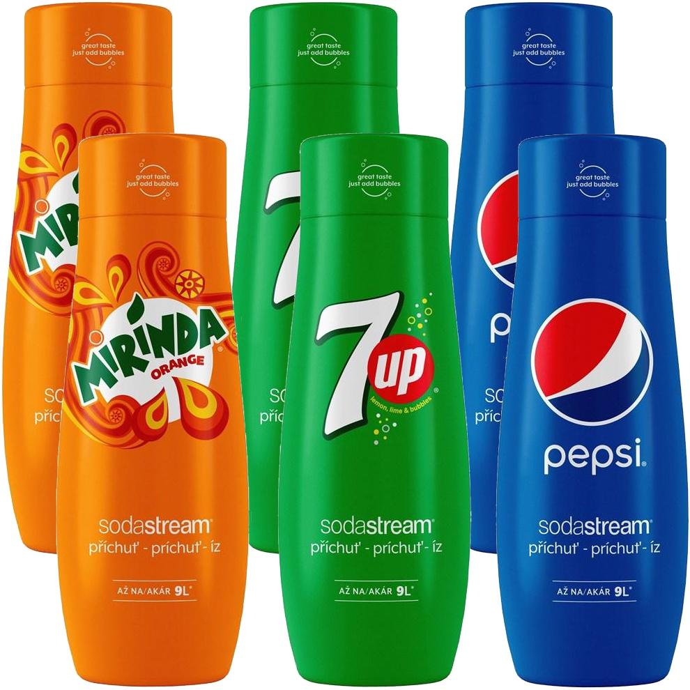 SodaStream sirupy Pepsi 6ks MEGAPACK