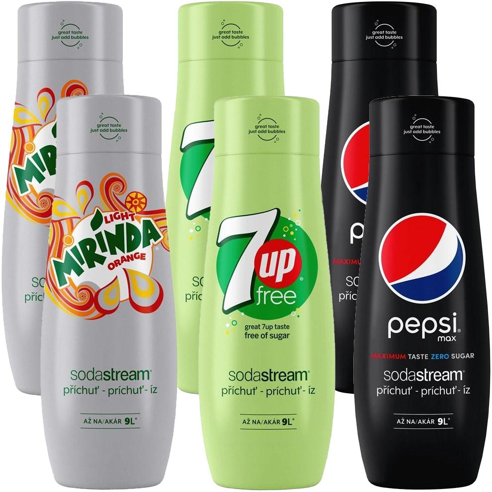 SodaStream sirupy Pepsi Light (bez cukru) 6ks MEGAPACK