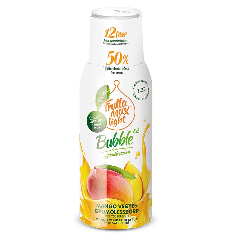 FruttaMax sirup pro perlivé nápoje Mango bez cukru 500ml